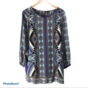 Glam Tribal Pullover Midi dress in Aztec Print